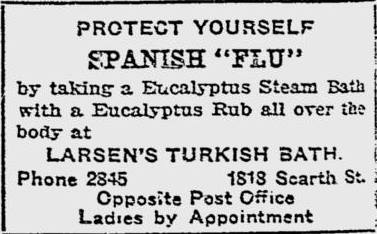Protect Yourself from The Spanish Flu